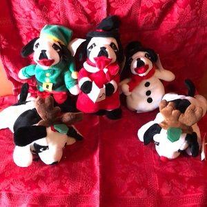 Big dogs small stuffed Christmas toys